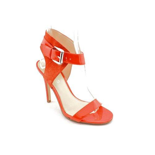 Heshia Womens Patent Leather Sandals