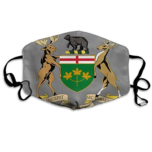 SyjTZmopre Coat of Arms of Ontario_副本 Mouth Mask Unisex Printed Fashion Face Anti-dust Masks ()