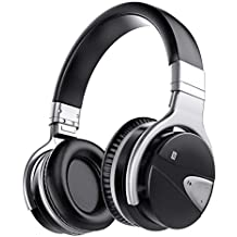 Active Noise Cancelling Headphones, USTEK Bluetooth Over Ear Headphones with 30 Hours Playtime and Built-in Microphone,Comfortable Protein Earpads for Travel Work-Black