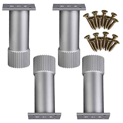 Furniture feet/Support Legs, Metal feet Cabinet feet Kitchen Accessories, Height Modern Furniture Sofa Legs Metal Chrome Polished for Sofa Table Cabinet Cupboard Set of 4