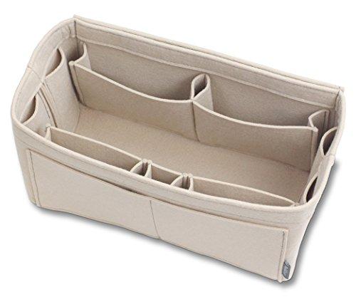 Pelikus Felt Purse & Tote Organizer Insert / Multi-Pocket Handbag Shaper (Large, Beige)