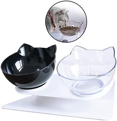 41mhQqa9%2BbL. AC - Legendog Cat Bowls,15°Tilted Cat Food Bowl Double Cat Dishes, Cat Feeder Cat Feeding Bowl Raised With Stand, Cat Food Water Bowl For Cats And Small Dog