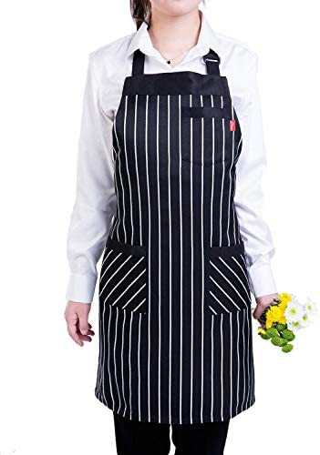 Nicokee Sugar Skull Floral Chef Aprons Mens Womens Waist Tie Half Bistro Apron With 2 Pockets For Home Kitchen Cooking