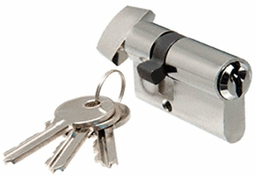 CRL Brushed Stainless Keyed Cylinder Lock With Thumbturn by CR Laurence by CR Laurence (Image #2)