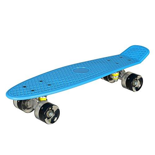 Vansop Cruiser Skateboard 22' LED Light-Up Complete Deck for Kids Boys Girls Youths Beginners(US Stock)