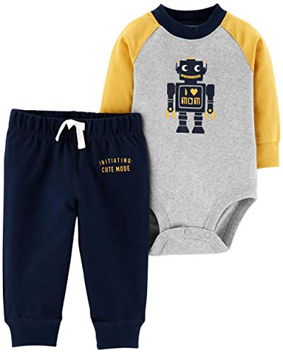 Carter's Baby Boys Graphic Slogan 2-Piece Bodysuit & Pant Set (Newborn, ()