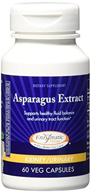 Asparagus Extract 60 Capsules (Pack of 2) by Enzymatic