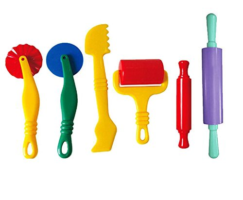 Fashionclubs 6pcs/set Plastic Art Clay and Dough Playing Tools Set For Children Ages 3 And Up