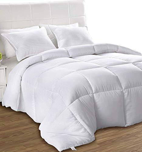 Utopia Bedding- Edredon de Fibra - Primavera-Verano - Fibra Hueca Siliconada, 540 gramo - Blanco (Cama 80)