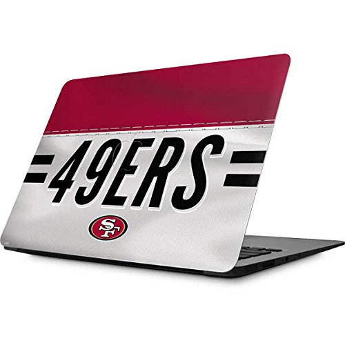Skinit Decal Laptop Skin for MacBook Air 13 (2008&2009) - Officially Licensed NFL San Francisco 49ers White Striped Design (49ers Laptop Skin)