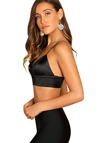 8cd28a7e01 Jual SheIn Women s Strappy Plain V Neck Vest Sexy Bralette Cami Crop ...