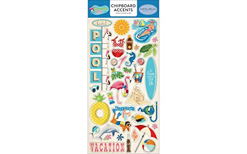 Carta Bella Paper Company Summer Splash 6x13 Chipboard Accents