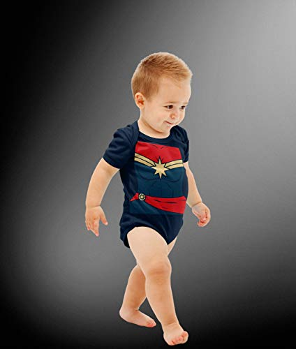 Baby Captain Comic Costume Bodysuit]()