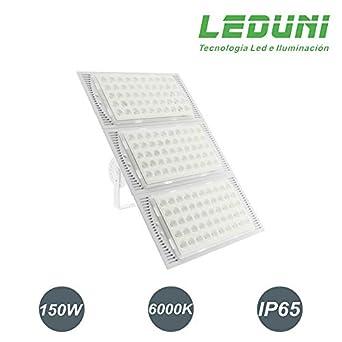 Foco Proyector LED Modular Exterior Acabado Blanco 150W Luz Blanco ...