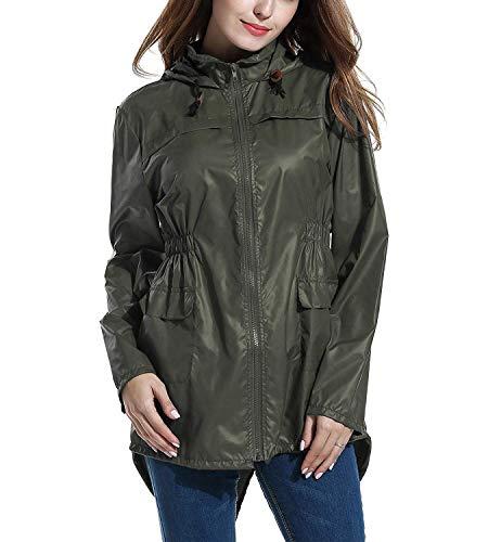Con Rain Waterproof E Grün Traspirante Jacket Anni Raincoat Tasca Women 20 Elodiey Cappuccio YqxTwnROx