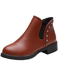 Fashion Rivets Ankle Boots Women -Flat Shoes Martain...
