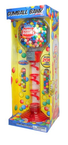 Dispenser Bubble Gum - Sweet N Fun 9076 Metal Spiral Fun Gumball Bank With Gumballs, 36