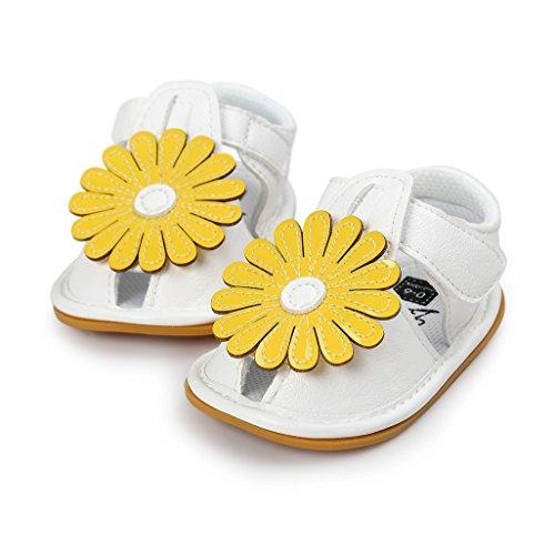 Bebé Prewalker Zapatos Auxma Primeros caminante de la princesa del niño del bebé zapatos Sandalias de los zapatos del arco para 0-6 6-12 12-18 meses E
