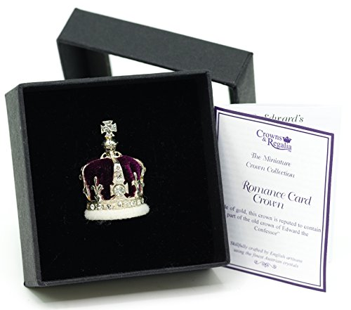 Crown Miniature - British Crown Jewels Crown of The Queen Mother Miniature Crown, Hand Made in UK by Crowns&Regalia, Studded with Swarovski Elements