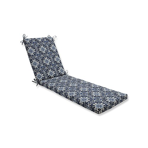 Pillow Perfect Outdoor/Indoor Woodblock Prism Blue Chaise Lounge Cushion 80x23x3 (Lounge Bohemian Chaise)