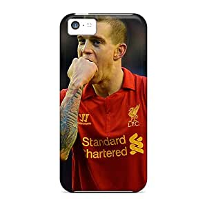 Ideal SUNY Case Cover For Iphone 5c(the Player Of Liverpool Daniel Agger Is Biting His Fist), Protective Stylish Case