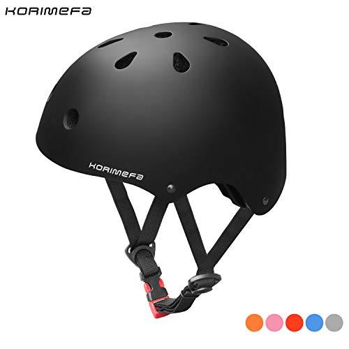 KORIMEFA Kids Bike Helmet Toddler Helmet 3-8 Years Kids Skateboard Helmet Multi-Sport Cycling Helmet CPSC Certified Impact Resistance Ventilation Adjustable Helmets Outdoor Sports