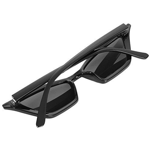 de senora retro Gafas gato de de SODIAL pequenas ojo de sol Gafas vintage Gafas sol de de Negro mujer Negro de lujo negras S17077 sol Gafas de x71Hz1qwI