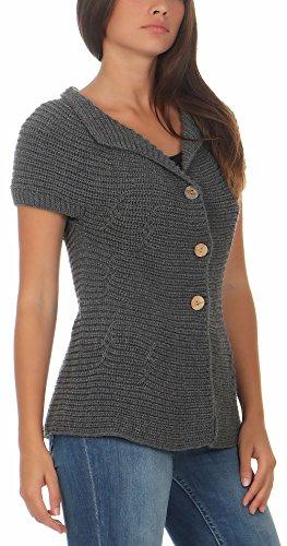 5060 Basic Cárdigan Largo Gris Mujer Única Talla Malito Suéter botòn Rebeca SRdWYn