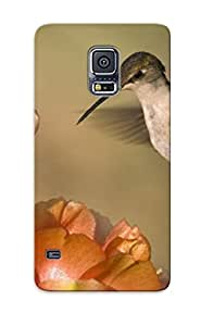 Hot Tpu Cover Case For Galaxy/ S5 Case Cover Skin Design - Ruby Throated Hummingbird