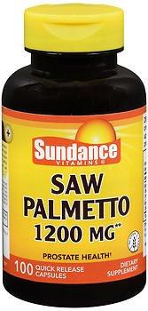 Sundance Vitamins Saw Palmetto 1200 mg - 100 Capsules, Pack of 4