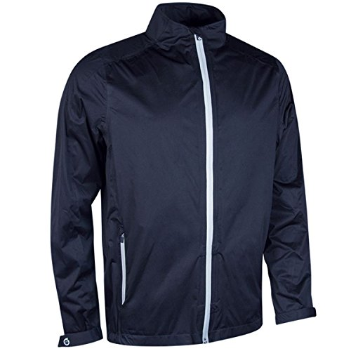 Sunderland Mens Whisperdry Lightweight Waterproof Golf Jacket Navy/Silver L
