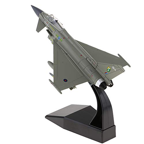 - CUTICATE 1:100 EF-2000 Warplane Warcraft Model Military Airplane Fighter Diecast Plane Toy