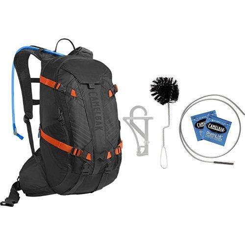 Bladder Camelbak Cleaning - CamelBak K.U.D.U. 18 Hydration Pack (Black/Laser Orange) w/ Reservoir Cleaning Kit