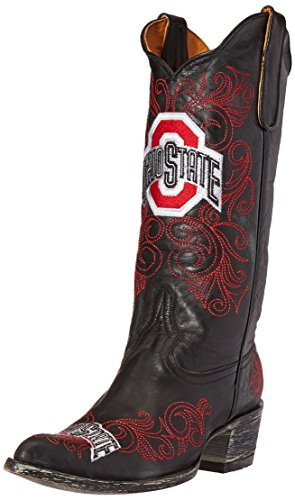 GAMEDAY BOOTS NCAA Ohio State Buckeyes Women's 13-Inch, Black, 5 B (M) US