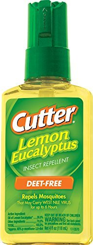 Cutter Lemon Eucalyptus Insect Repellent, Pump Spray, 4-Ounce, 6-Pack
