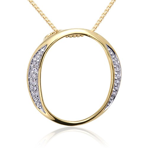 The Proverbial O in the Trend Du Jour: Vermeil O Pendant with White Cubic (Vermeil Pendant)