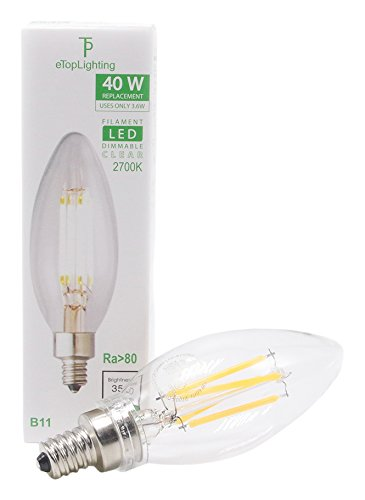eTopLighting 5 Pack) LED Filament 40 Watt Dimmable 120 Vo...