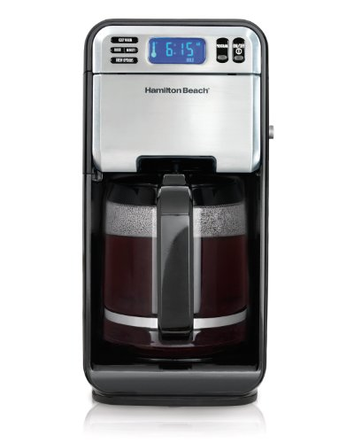 Hamilton Beach 46201 12 Cup Digital Coffeemaker, Stainless Steel image