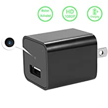 Hidden Spy Cameras Charger Adapter, Colisivan 1080P HD USB Wall Charger with Adjustable Resolution, Automatic Motion Detection and Built in 32G Internal Memory For Home Security.