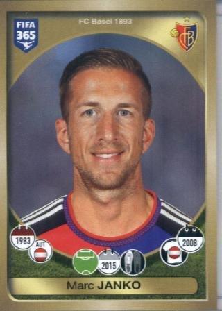 fan products of 2016-17 Panini FIFA 365 #228 Marc Janko FC Basel 1893 Soccer Sticker
