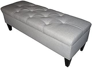 product image for MJL Furniture Designs Brooke Collection Diamond Tufted Upholstered Long Bedroom Storage Bench, Magnolia