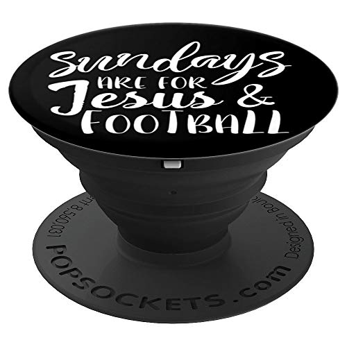 (Funny & Cute Jesus & Football | Christian Gift PACJ1130 - PopSockets Grip and Stand for Phones and Tablets)