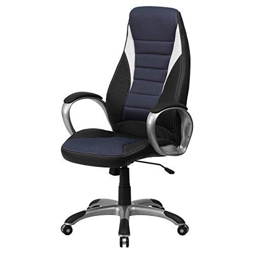 utive Office Chair, Black + Expert Guide (Loop Lock Blue Padded Seat)