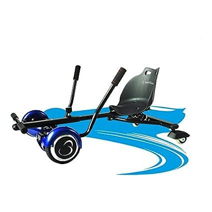 SmartGyro Crazy-Kart Black - Hoverkart, Soporte adaptable para patín eléctrico, Eje de