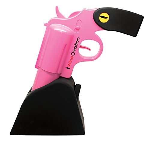 WineOvation Electric Gun Wine Opener (Pink) WNO-01P - Open your Wine Bottle fast and without hassle - Great for Gun Enthusiasts and Wine (Wine Bottle Accessories)