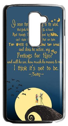custom cartoon the nightmare before christmas quotes case cover for lg g2 fit for att - Nightmare Before Christmas Quotes