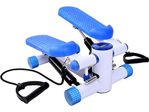 GHP 220LBS Capacity Blue Light Weight & Portable Aerobic Exercise Step Machine
