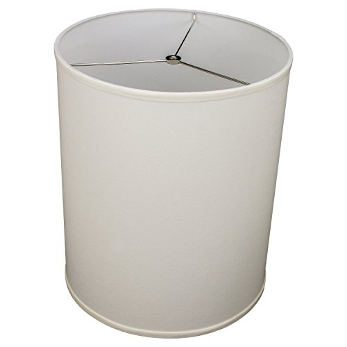 "FenchelShades.com 14"" Top Diameter x 14"" Bottom Diameter 18"" Height Cylinder Drum Lampshade USA Made (Cream)"
