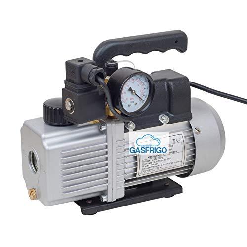 High Vacuum Pump Dual Stage 85/lt Min With Solenoid Valve and Vacuum Gauge
