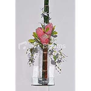 Huge Pink Protea & White Sweetpea Floral Arrangement 61